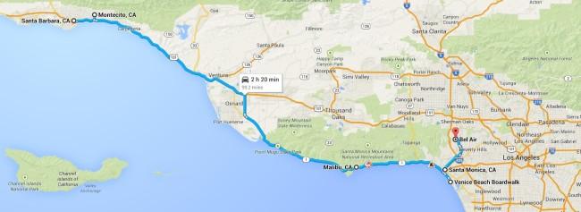 costa oeste de california