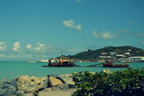 isla de st martin en el caribe