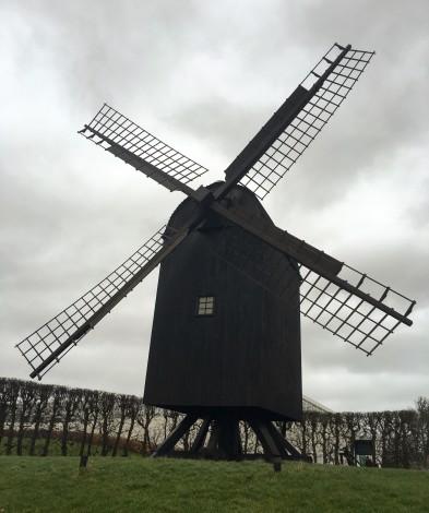En las afueras del museo me encontré con este molino de viento un tanto particular.