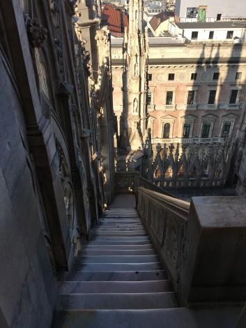 escaleras+duomo+milan+techo días en milán