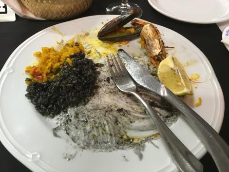 paella+canarias+negra+blanca en la isla de fuerteventura