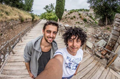 selfie+turquia+efeso ruinas efeso