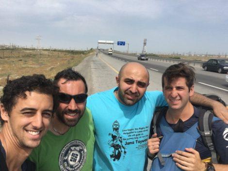 autostop-azerbaiyan baku frontera iran