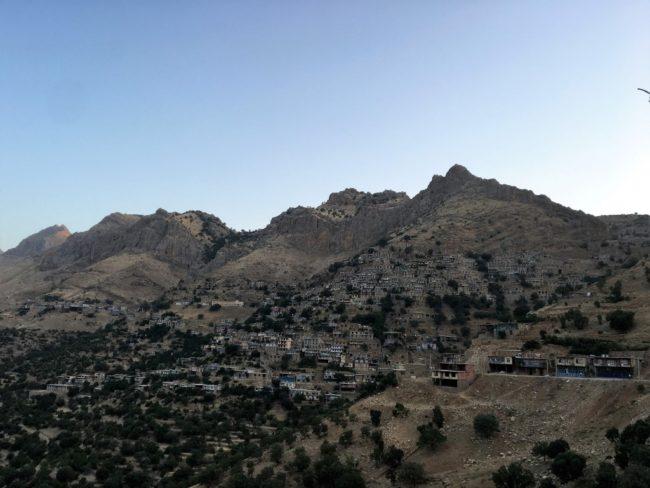 montañas en kurdistan