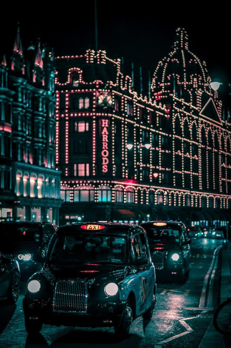 luces harrods navidad londres